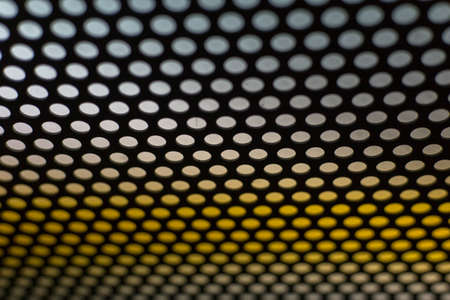 composit: abstract dotted black and white texture in metal material Stock Photo