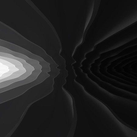 light at the end of tunnel: Light at the end of wavy abstract tunnel