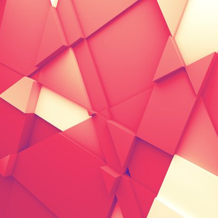 ambience: Geometric color abstract polygons, as wallpaper for room