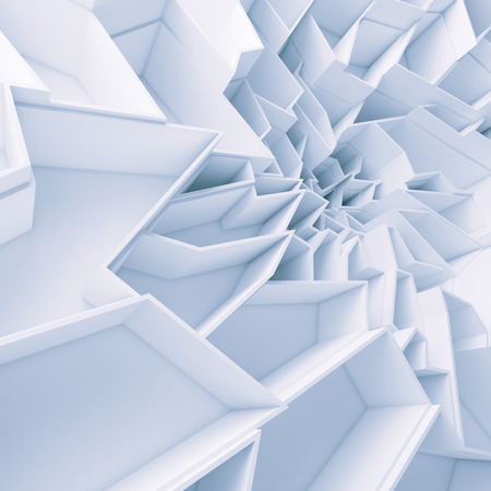 abyss: Geometric color abstract polygons wallpaper, as crack wall. Interior room, chasm, abyss