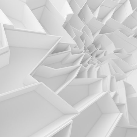 baratro: Geometric color abstract polygons wallpaper, as crack wall. Interior room, chasm, abyss