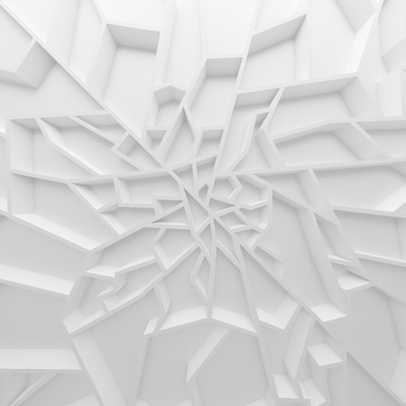 baratro: Geometric color abstract polygons wallpaper, as crack wall. Interior room, chasm
