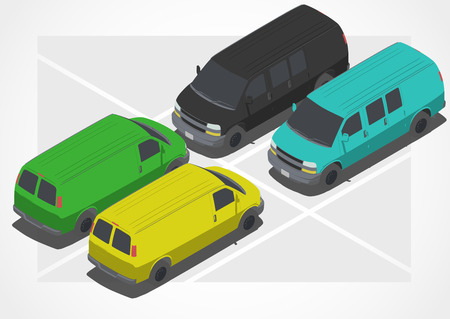 changing color: Car for Isometric world, with easy changing color Illustration