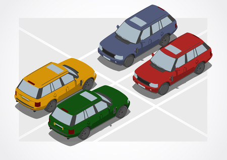 changing color: Crossover car for Isometric world, with easy changing color