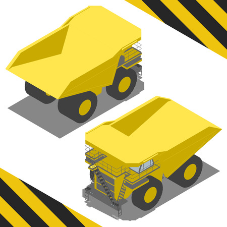 rear view: Huge tipper for Isometric world, with easy changing color