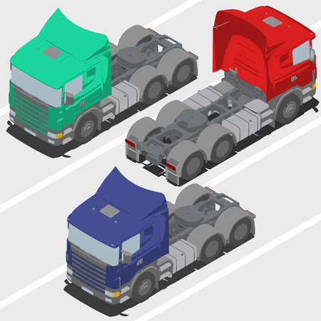changing color: Truck without trailer for Isometric world, with easy changing color