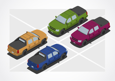 changing color: Pickup car for Isometric world, with easy changing color