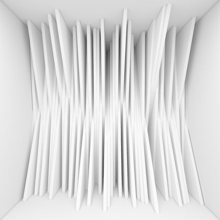randomized: Abstract wall lines backgrounds. Randomized lines in room Stock Photo
