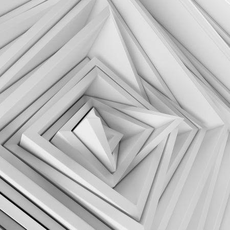 Abstract randomized square volumetric frames background. Ambient wallpaper Stock Photo