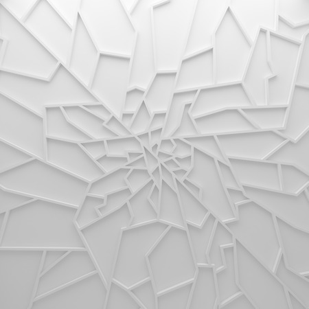 chasm: Geometric color abstract polygons wallpaper, as crack wall. Interior room, chasm