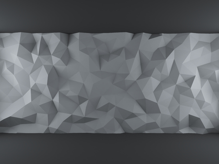 wall angle corner: Gray abstract 3d geometric triangles backdrop with lighting