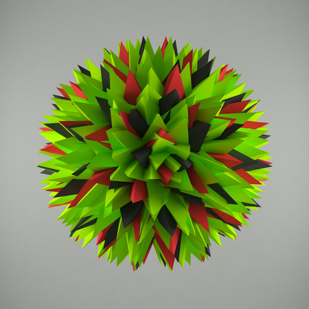 encircling: Abstract lowpoly needles sphere. Consisting of abstract angles Stock Photo