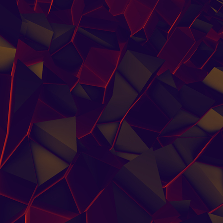 encircling: Abstract lowpoly wall. lava, glow or hot metal