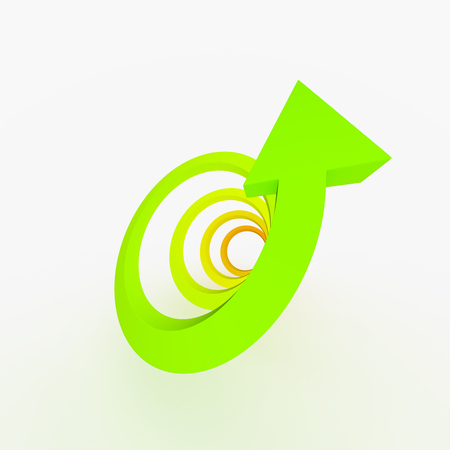 ascent: Colored ascent arrow, spiral shape. Concept growing