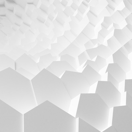 abyss: Geometric color abstract polygons extruded cells wallpaper, as crack wall. Interior room, chasm, abyss, gulf background