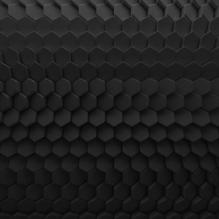 slit: Black abstract squares backdrop. 3d rendering geometric polygons, as tile wall. Interior room
