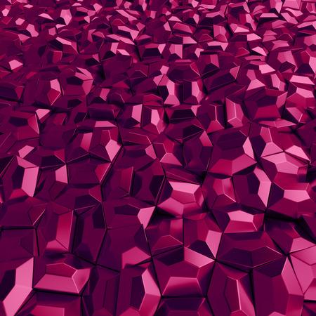 3d rendering geometric wine polygons, as tile wall. Interior room