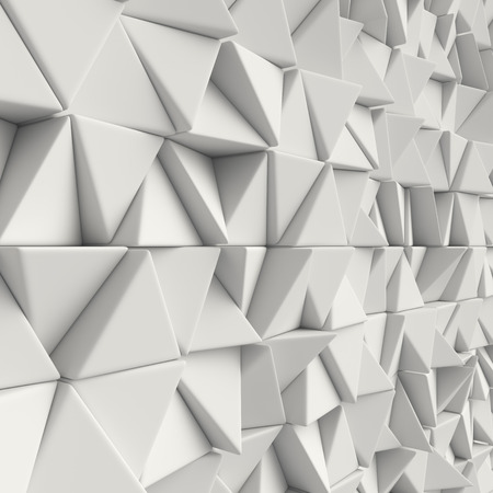 3d rendering geometric polygons, as tile wall. Interior room