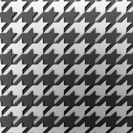 3d rendering geometric polygons, as tile wall. Fabric pattern