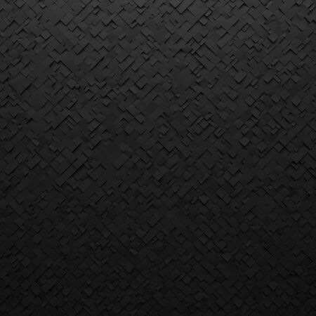 Black abstract squares backdrop. Geometric polygons, as tile wall. Interior room Stock fotó