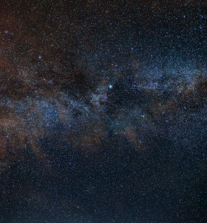 Two colors of the Milky Way - the background of the star sky which is at us over the head.