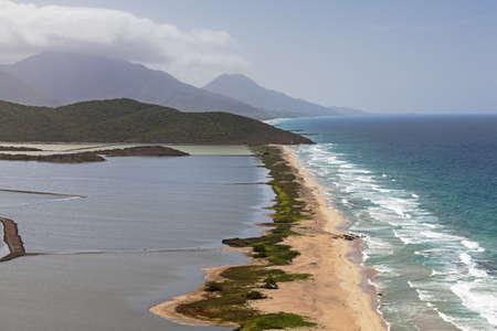 watershed: beautiful view of the watershed on the ocean  Margarita Island, Venezuela - June 27, 2012