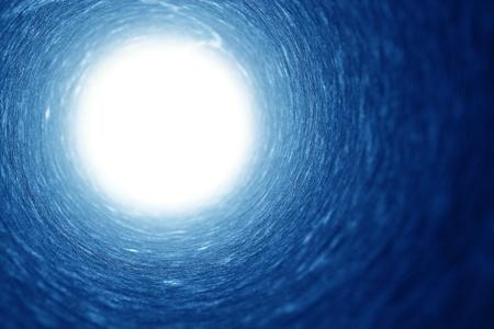 トンネルの終わりに光 写真素材