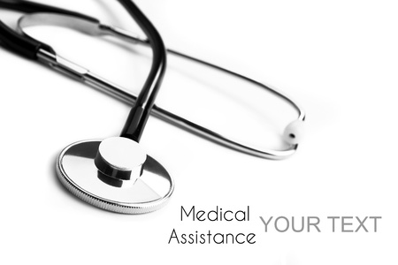 Stethoscope background for medical assistance photo