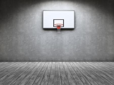 Kamer met een basketbal tabel op de muur