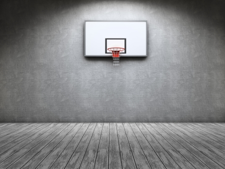 cooper: Room with a basketball table on the wall