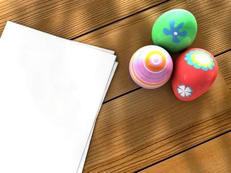 Easter eggs notebook photo