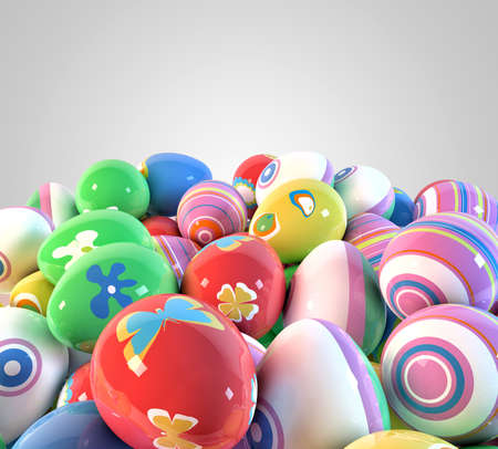 Easter eggs background photo