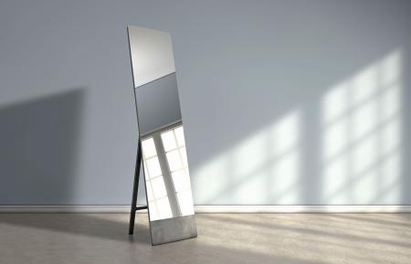 Window reflection on a mirror photo
