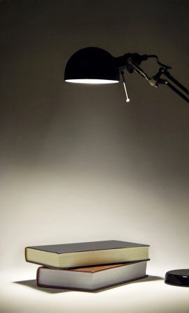 Couple of books illuminated by a sconce Stock Photo - 20384901