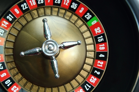 Background of a casino roulette wheel