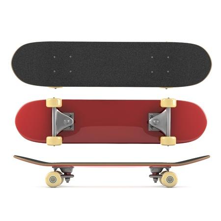 白い背景で隔離のスケート ボード