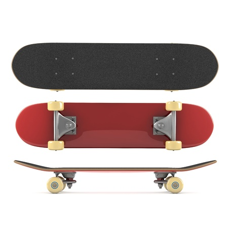 Skateboard isolated on white background photo