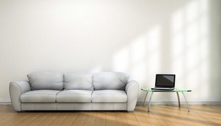 Notebook en sofa