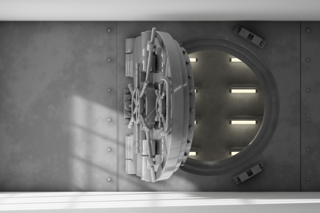 combination lock: Vault interior