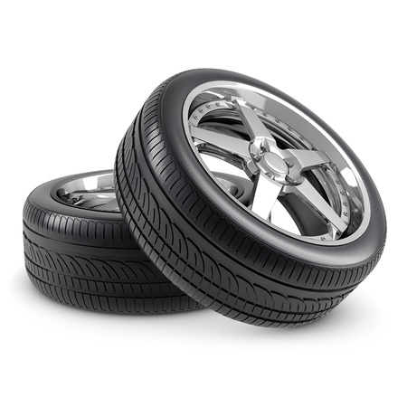 pneumatic tyres: Wheels isolated