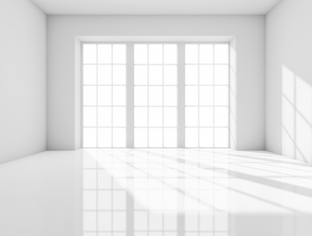 glass window: White room Stock Photo