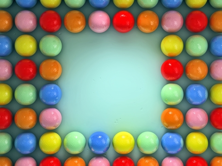 Colorful balls photo