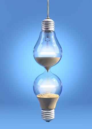 Hourglass lightbulb Reklamní fotografie