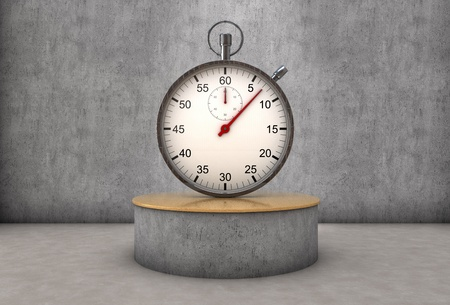 expositor: Reloj de pie en un expositor Foto de archivo