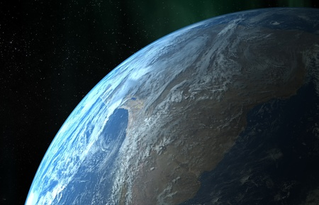earth day: Earth close up view Stock Photo