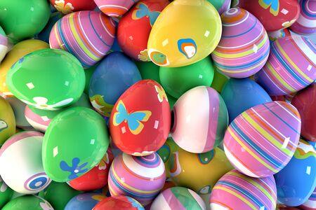 dozens: Dozens of easter eggs Stock Photo