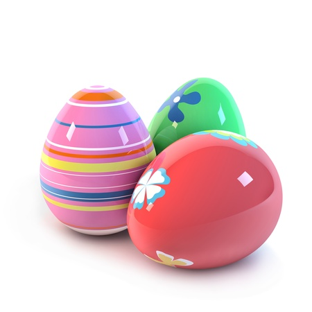 Easter Eggs op wit