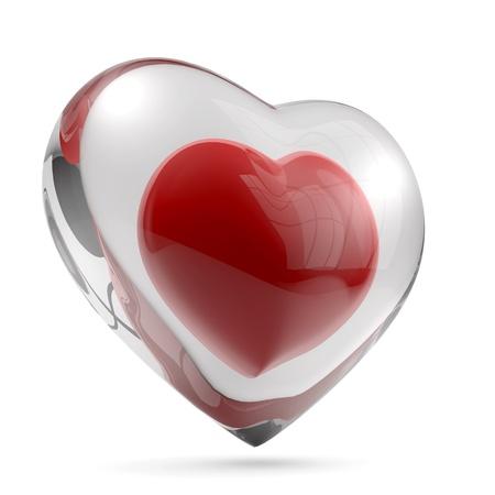 Heart glass shell