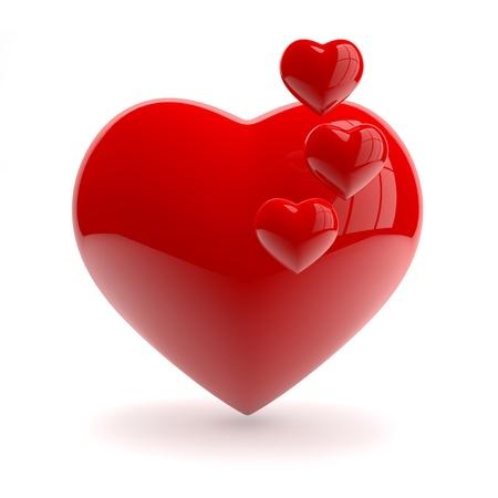 Hart in de liefde Stockfoto