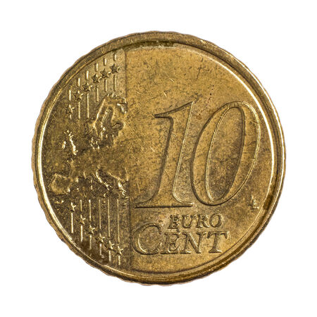 Detailed shoot of ten euro cents photo